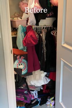 Disorganized Kid's Closet