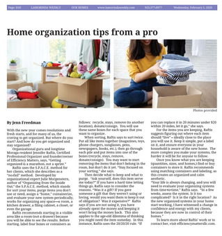Home Organizing Tips From A Pro | Lamorinda Weekly Article