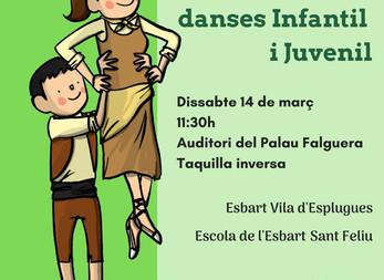 L'Escola de l'Esbart celebra el VIII Festival de Danses Infantil i Juvenil a Sant Feliu