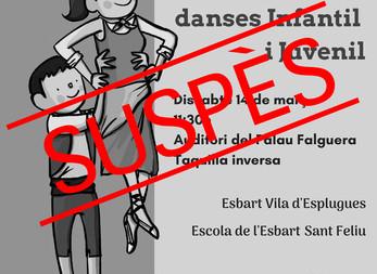 Suspès el Festival de Danses Infantil i Juvenil