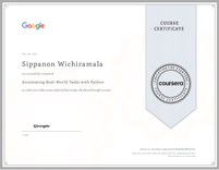 Course Certificate Real-World Tasks with Python