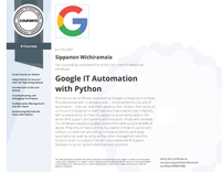 Specialization Certificate Google IT Automation with Python