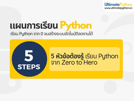 จะเริ่มเรียน Python จาก 0 ต้องรู้ แจกแผนการเรียน 5 ขั้นตอนสำหรับผู้เริ่มต้น