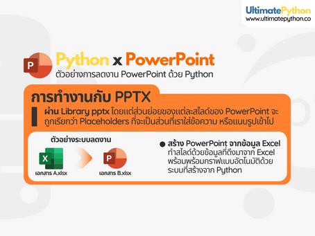 ทำงานซ้ำๆ บน PowerPoint? ใช้ Python ทำแทนด้วยระบบที่คุณออกแบบเอง
