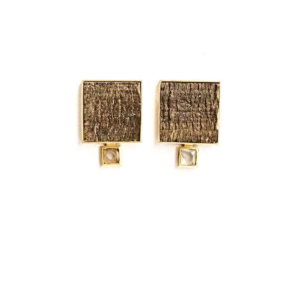 Ohrringe Horn Diamanten Gold