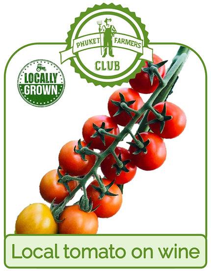 Local tomato on vine