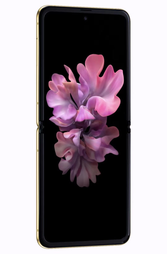 galaxy z flip gold mirror