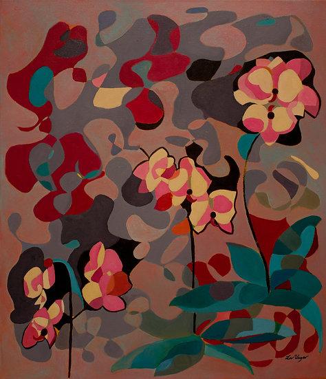 Tres ramos de orquídeas