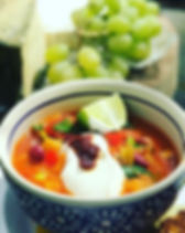 Today's sunshine soup in a bowl 🍲 serve