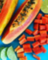 Papaya is high in vitamins C and A, fibr