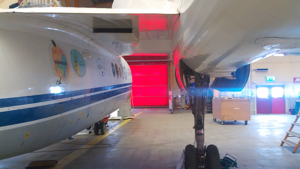 Geophysica in hangar.