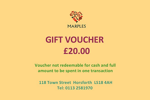 In Store Only £20 Voucher