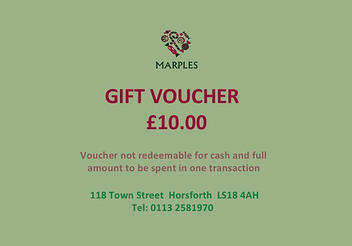 In Store Only £10 Voucher