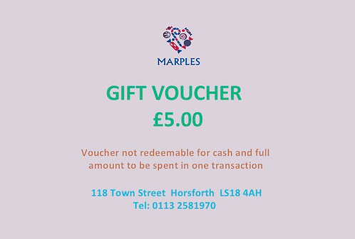 In Store Only £5 Voucher