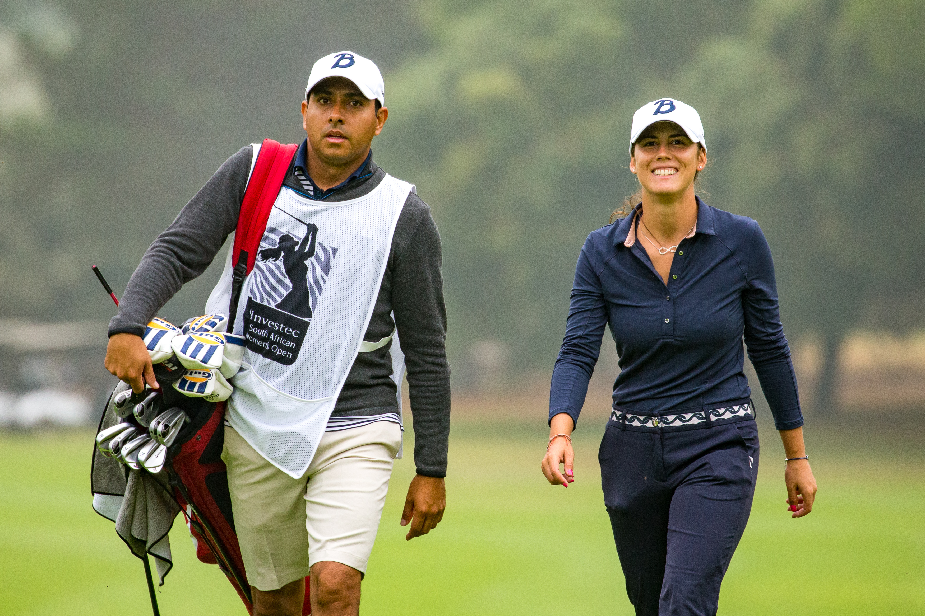 My caddie and I - South African Open