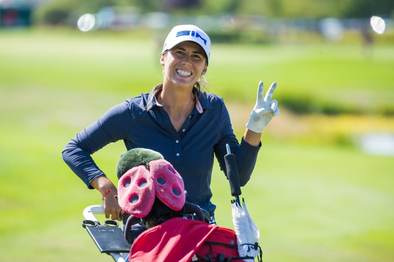 Smiling on the course
