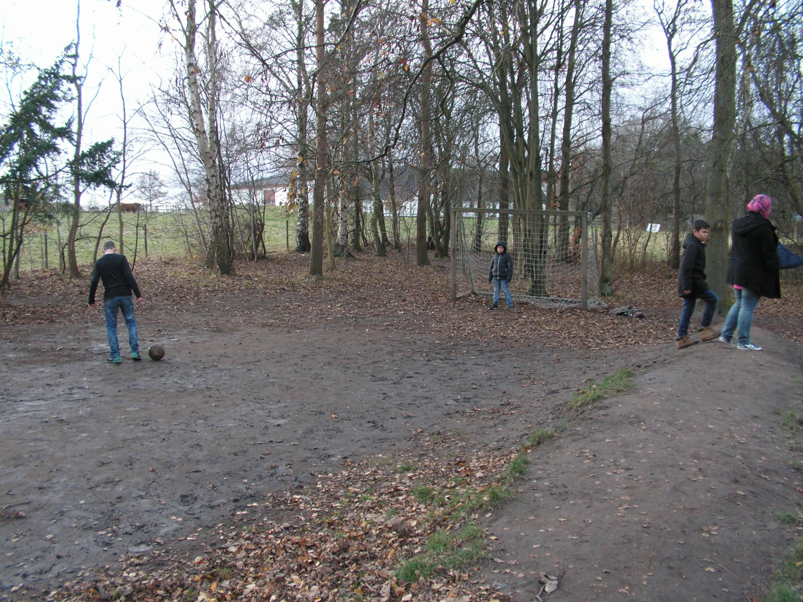 Boldbanen før arbejdet begyndte