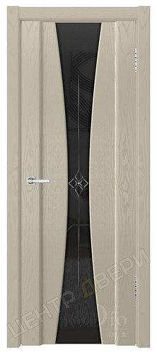 Соната-2 Звезда черное - дверь межкомнатная из натурального шпона ТМ DioDoor (ДИОдор) купить в Саратове по цене производителя