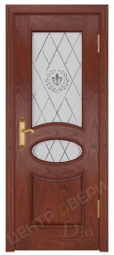 Санремо Геральдика - дверь межкомнатная из натурального шпона ТМ DioDoor (ДИОдор) купить в Саратове по цене производителя