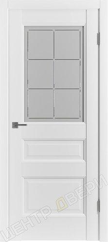 E-3 сатинато - царговая дверь межкомнатная с покрытием экошпон, серия Emalex, купить по цене производителя в Саратове
