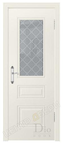 Контур-2 Кристалл - дверь межкомнатная с покрытием эмаль серия неоклассика ТМ DioDoor (ДИОдор) купить в Саратове