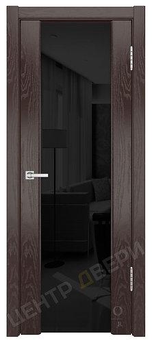 Триумф-3 триплекс черное - дверь межкомнатная из натурального шпона ТМ DioDoor (ДИОдор) купить в Саратове по цене производите