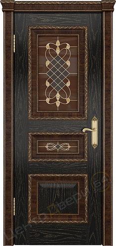 Версаль-2 Декор Витраж - дверь межкомнатная из натурального шпона ТМ DioDoor (ДИОдор) купить в Саратове по цене производителя