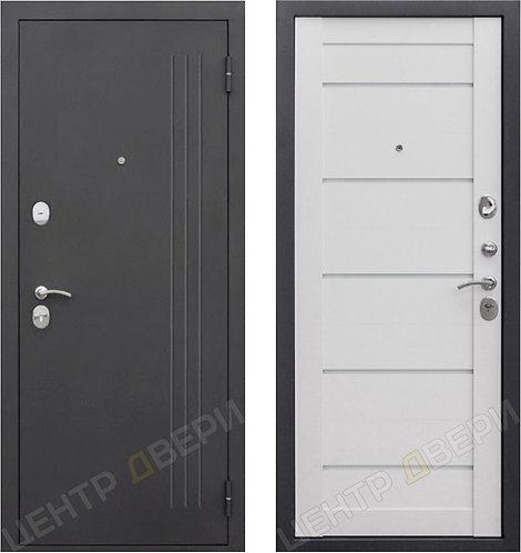 Нью Йорк ясень белый - дверь входная металлическая, купить по цене производителя, Центр Двери