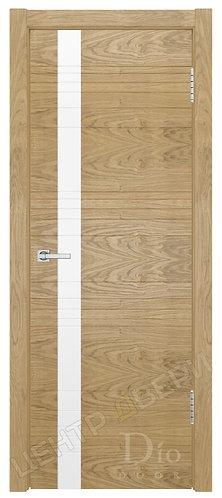 """Лайн-1 лакобель """"Белое"""" дверь межкомнатная из натурального шпона ТМ DioDoor (ДИОдор) купить в Саратове по цене производителя"""