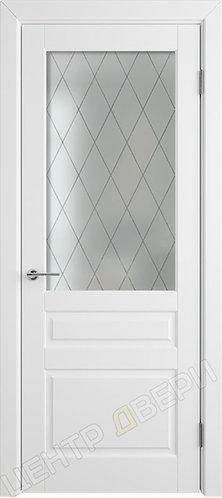 Челси 04 стекло сатинато, дверь межкомнатная с покрытием эмаль, серия Verda эмаль, купить по цене производителя в Саратове