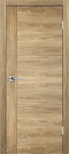 Лестер-1 дуб натуральный - дверь межкомнатная с антивандальным покрытием экошпон от производителя купить в Саратове