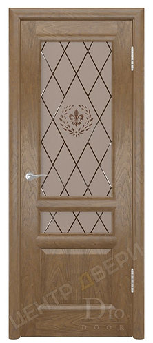 Онтарио-2 Геральдика - дверь межкомнатная из натурального шпона ТМ DioDoor (ДИОдор) купить в Саратове по цене производителя