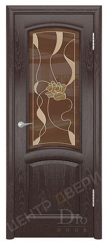 Ровере Цветок - дверь межкомнатная из натурального шпона ТМ DioDoor (ДИОдор) купить в Саратове по цене производителя