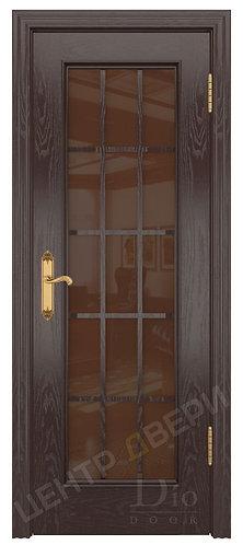 Криста-2 бронза - дверь межкомнатная из натурального шпона ТМ DioDoor (ДИОдор) купить в Саратове по   цене производителя