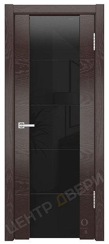 Квадро-3 Фриз триплекс черный - дверь межкомнатная из натурального шпона ТМ DioDoor (ДИОдор) купить в Саратове
