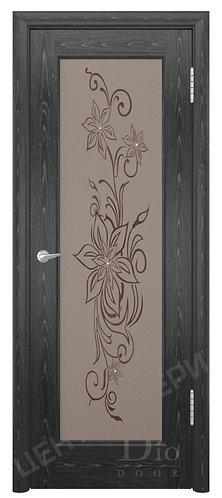 Миланика-1 мателюкс - дверь межкомнатная из натурального шпона ТМ DioDoor (ДИОдор) купить в Саратове по цене производителя