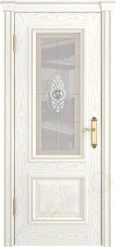 Версаль-1 Витраж - дверь межкомнатная из натурального шпона ТМ DioDoor (ДИОдор) купить в Саратове по цене производителя