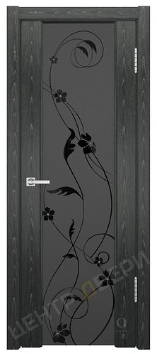 Триумф-3 триплекс Вьюн - дверь межкомнатная из натурального шпона ТМ DioDoor (ДИОдор) купить в Саратове по цене производителя