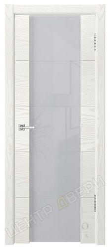Квадро-3 Фриз триплекс белый - дверь межкомнатная из натурального шпона ТМ DioDoor (ДИОдор) купить в Саратове
