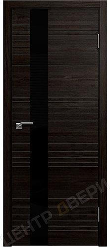 Новелла-1 венге, межкомнатная дверь, экошпон, Центр Двери, купить двери в Саратове