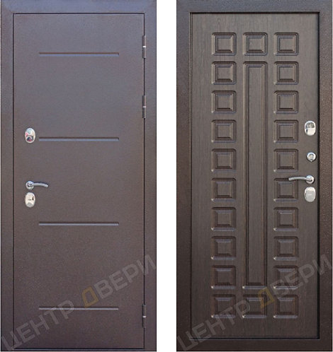 Изотерм венге - дверь входная металлическая, купить по цене производителя, Центр Двери