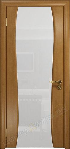 Портелло-2 триплекс белое - дверь межкомнатная из натурального шпона ТМ DioDoor (ДИОдор) купить в Саратове по цене производит