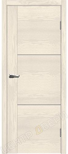 Лестер-1 ясень белый, межкомнатная дверь, экошпон, Центр Двери, купить двери в Саратове