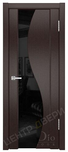 Фрея-2 триплекс черное - дверь межкомнатная из натурального шпона ТМ DioDoor (ДИОдор) купить в Саратове по цене производителя
