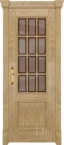 Криста-1 Рамка бронза - дверь межкомнатная из натурального шпона ТМ DioDoor (ДИОдор) купить в Саратове по цене производителя