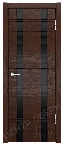 Лайн-2 лакобель черное - дверь межкомнатная из натурального шпона ТМ DioDoor (ДИОдор) купить в Саратове по цене производителя