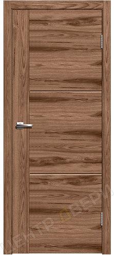 Лестер-1 орех американский, межкомнатная дверь, экошпон, Центр Двери, купить двери в Саратове