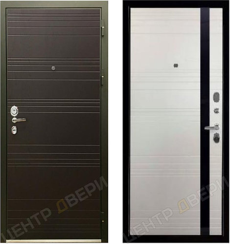 SD Prof Фортуна Дуб белый, дверь входная металлическая купить в Саратове