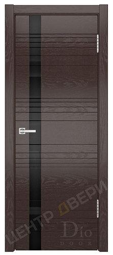 """Лайн-1 лакобель """"Черное"""" дверь межкомнатная из натурального шпона ТМ DioDoor (ДИОдор) купить в Саратове по цене производителя"""
