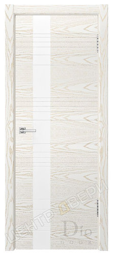Лайн-3 лакобель белое - дверь межкомнатная из натурального шпона ТМ DioDoor (ДИОдор) купить в Саратове по цене производителя